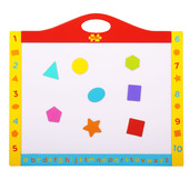 Magnetic Dry Wipe Whiteboard and Blackboard with Shapes