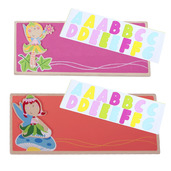 Name Plaque (Fairy) (Pack of 2 - Orange and Dark Pink)