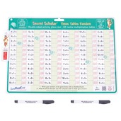 Times Tables Random with Secret Decoder and 2 Dry Wipe Pens