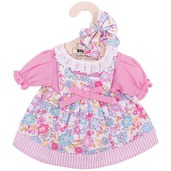 Pink Floral Dress (for 34cm Doll)
