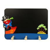 Blackboard with Coat Hooks (Pirate)