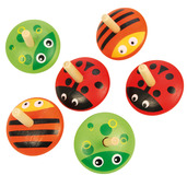 Animal Spinning Tops (Pack of 6)