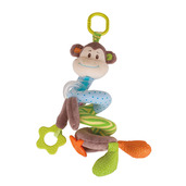 Cheeky Monkey Spiral Cot Rattle