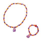 Owl Bracelet and Necklace (Purple Owl)