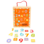 Wooden Magnetic Numbers