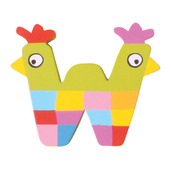 Crazy Animals Letter W (One Supplied - Designs Vary)
