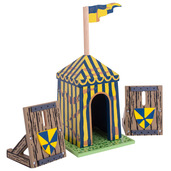Blue Siege Tent with Palisades
