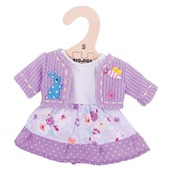 Lilac Dress and Cardigan (for 28cm Doll)