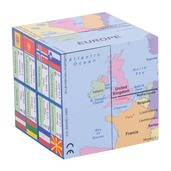 European Nations Map Flags and Facts Geographical Cubebook