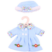 Blue Hat and Coat (for 34cm Doll)