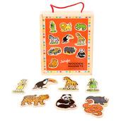 Wooden Jungle Magnets