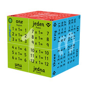 1 - 12 Times Tables Cube Book (English Polish Romanian & Czech)