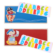 Name Plaque (Pirate) (Pack of 2 - Red and Dark Blue)