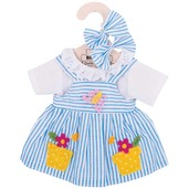 Blue Striped Dress (for 34cm Doll)