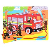 Tray Puzzle Fire Engine