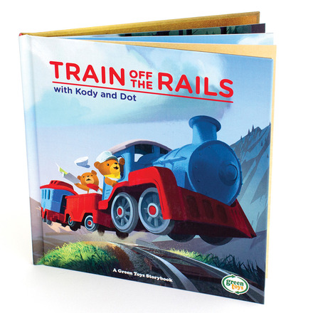 Train Off the Rails Storybook picture