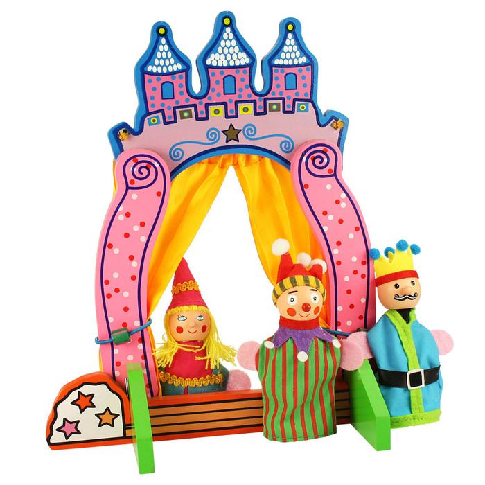 Finger Puppet Theatre Official Bigjigs Toys Wooden
