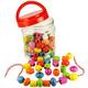 Jar of Lacing Beads