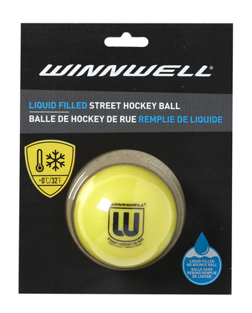 STREET HOCKEY BALL LIQUID FILLED 65MM 65G SOFT YELLOW (CARDED) picture