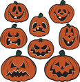 Vintage Halloween Pumpkin Cutouts