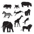 Jungle Animal Silhouettes