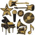 Foil Music Award Cutouts