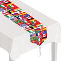 Printed International Flag Table Runner