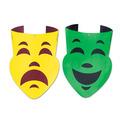 Pkgd Foil Comedy & Tragedy Face Cutouts