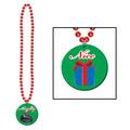 Beads w/Prtd Naughty Or Nice Medal