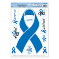 Blue Ribbon/Find A Cure Peel 'N Place