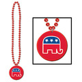 Beads w/Republican Medallion