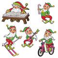Vintage Christmas Santa & Elves Cutouts