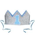 Glittered Baby's 1st Birthday Crown