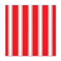 Red & White Stripes Beverage Napkins