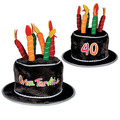 """Plush """"40"""" Over The Hill Cake Hat"""