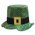 Plush Gold Shamrock Hat