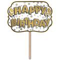 Foil Happy Birthday Yard Sign