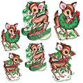 Vintage Christmas Reindeer Cutouts