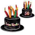 """Plush """"50"""" Over The Hill Cake Hat"""