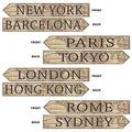 Around The World Street Sign Cutouts