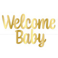 Foil Welcome Baby Streamer