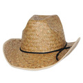 Hi-Crown Western Hat w/Shoelace Band