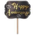 Foil Happy Anniversary Yard Sign
