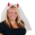 Devil Horns Headband w/Veil