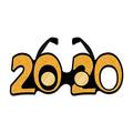 """""""2020"""" Glittered Plastic Eyeglasses"""