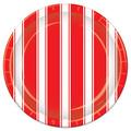 Red & White Stripes Plates