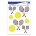 Tennis Balls & Racquets Peel 'N Place