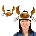 Plush Cow Head-Hat