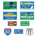 Travel America Road Sign Cutouts