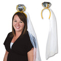 Diamond Ring Headband w/Veil